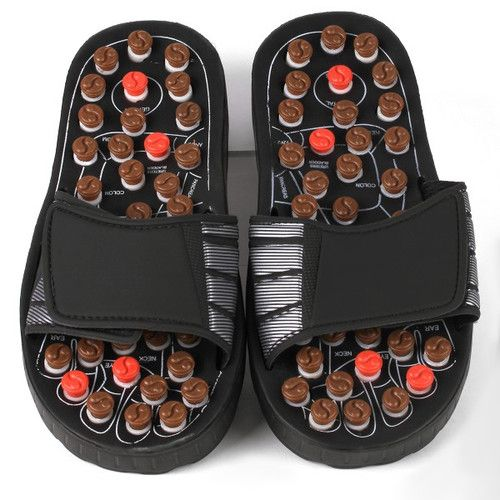 Deluxe Comfort Reflexology Rotating Massage Head Sandal