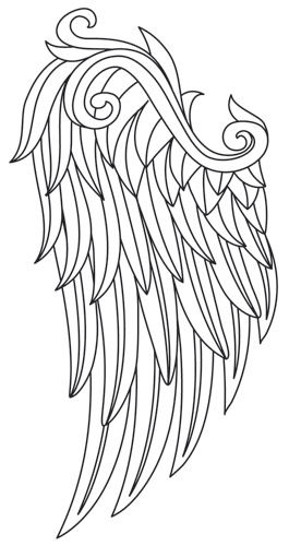 Gilded Heraldry - Mythic Wings (Wing Pair) design (UTZH1612) from UrbanThreads.com