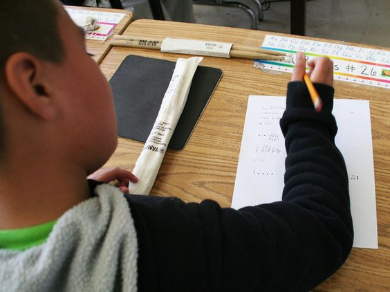 Music and Math. NPR article- using music notes to teach fractions