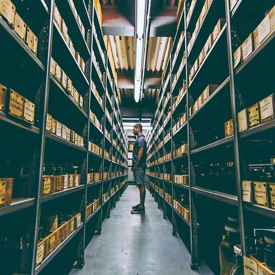 #InsideAMNH, @karim.mustafa gets a behind-the-scenes look at the Ichthyology Collections area. Each shelf is filled with fish specimens from around the world.