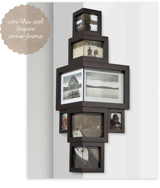 DIYable: corner frames | Corner, Gallery wall and Photo wall