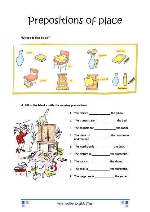 Preposition Worksheets For Grade 1 B B7877cd Abec5e0725 484—684 English  Prepositions, Preposition Worksheets, Prepositions