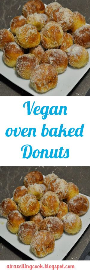 Tasty vegan oven baked donuts dipped in lemon sugar-a mouth watering recipe!