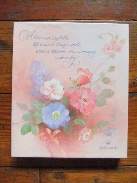 Vintage Floral Hallmark Scented Stationery by Isisgoodsny on Etsy