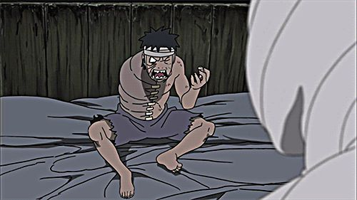 Obito talking to swirly poop/Spiral Zetsu