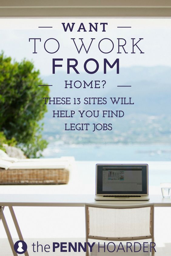 Do anyone know of any legit work at home jobs?