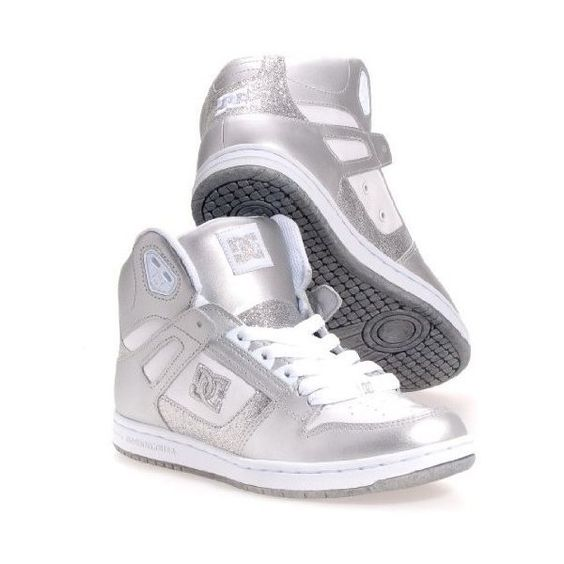 DC Women's Rebound High-Top Sneaker ($28) ❤ liked on Polyvore featuring shoes, sneakers, high top trainers, tie shoes, lacing sneakers, hi tops and dc shoes high tops