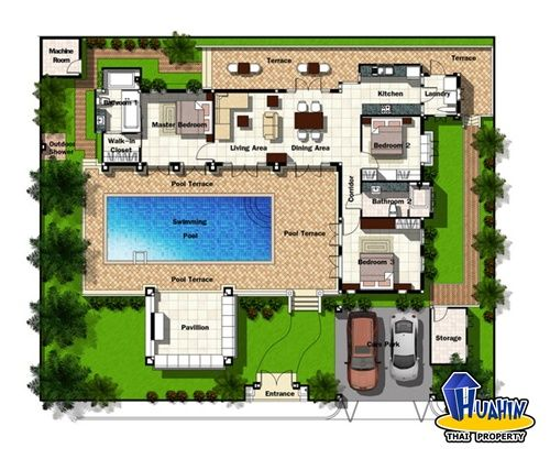 Style No2 Premium Thai Bali ISLAND Style TROPICAL – Bali House Designs Floor Plans