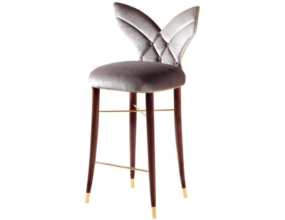 Luna Bar Chair - An unusual #majestic #elegance surrounds the Luna bar #chair…: