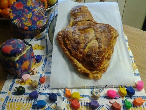 Puff pastry apple dreidel (after)