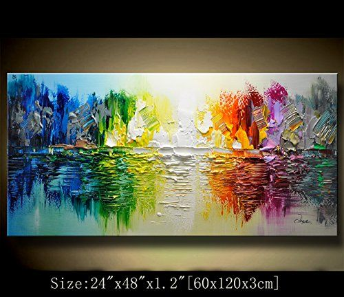 CANVAS WALL ART CONTEMPORARY LANDSCAPE OIL PAINTING MODERN DECOR HAND PAINTED
