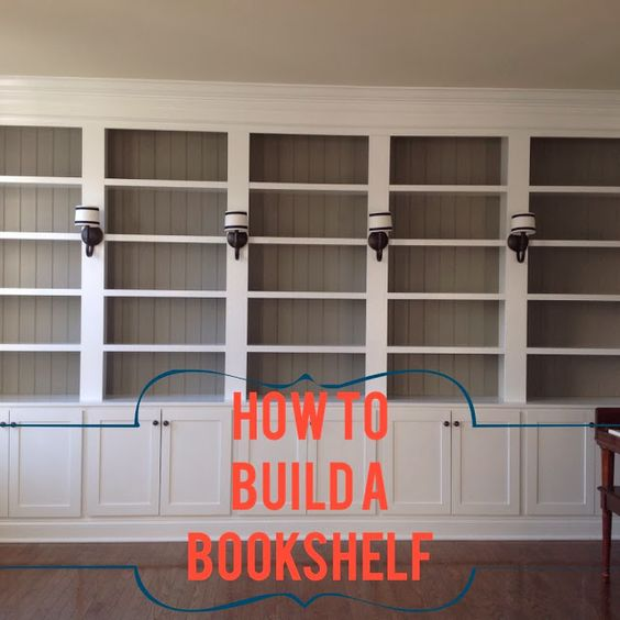 How We Built Our Library Bookshelves- this is a great tutorial on how to build bookshelves, and a great blog site for interior Design.
