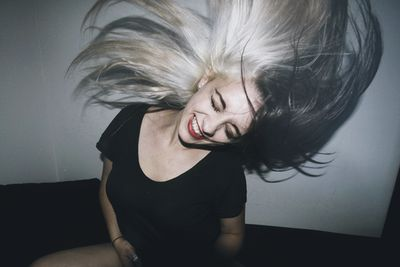 blonde black hair