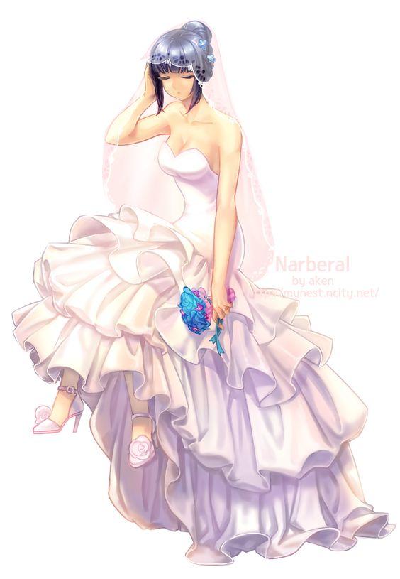 ドレスを着るナーベラル