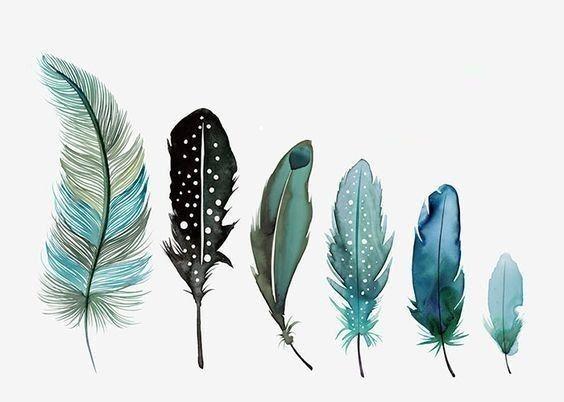 Bemalte Federn Bild Von Philea Adhanti Auf Artsy Feder Kunst