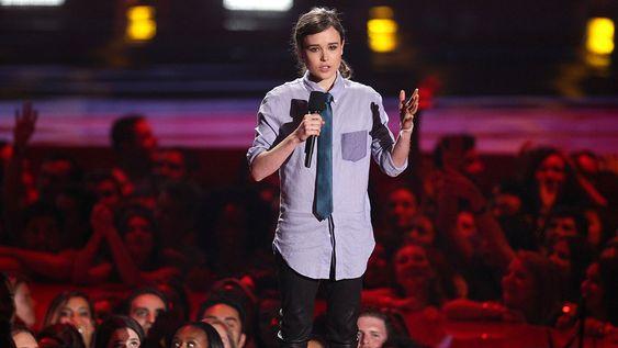 Elliot Page en los MTV Movie Awards de 2014. FOTO: GTRES