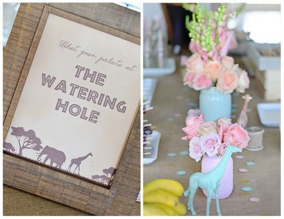Vintage Pastel Wild Safari Birthday Party via Kara's Party Ideas | KarasPartyIdeas.com (17)
