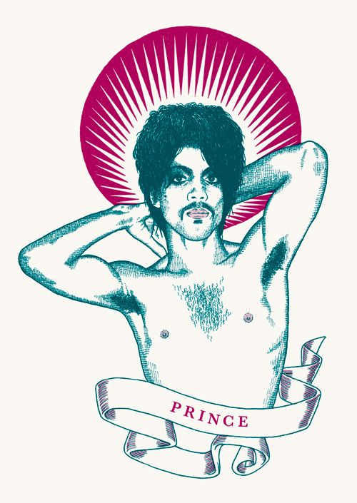 "RS167 - ""Prince"" Icon card by Ben Lamb Illustration & Design:"