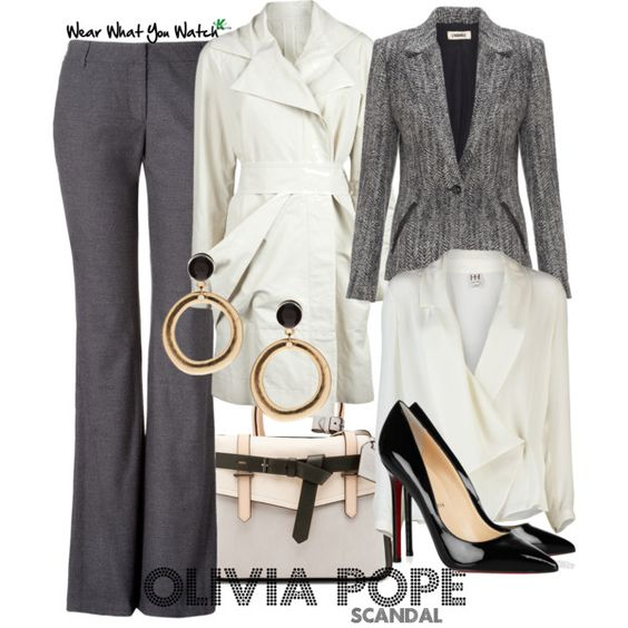 Inspired by character Olivia Pope played by Kerry Washington on the new ABC drama Scandal.