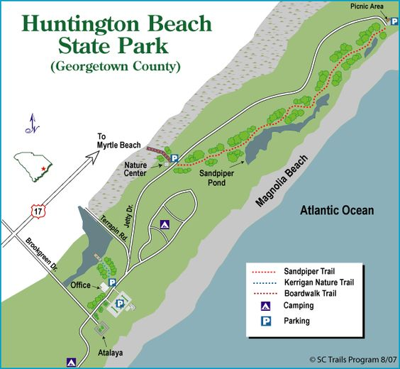 Camping At Huntington Beach State Park: Parks, State Parks And Beaches On Pinterest