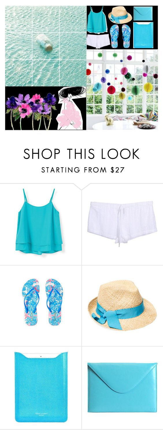 """""""Untitled #117"""" by nabilaseshaa ❤ liked on Polyvore featuring MANGO, Emporio Armani, Lilly Pulitzer, Stella T., Aspinal of London and C/FAN"""