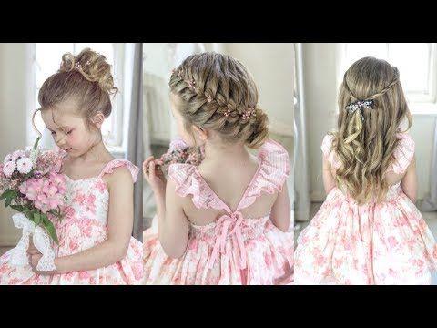 3 Cute Easy Flower Girl Hairstyles By Sweethearts Hair Youtube Flower Girl Hairstyles Flower Girl Hairstyles Updo Hair Styles