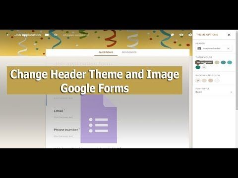 How To Change Header Theme Color And Image In Google Forms