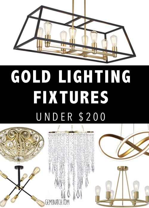 Gorgeous Gold Lighting Fixtures Under 200 Lighting Ceiling Lights Chandelier