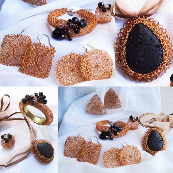 Joyeria Tejida Crochet en Punto Peruano - Learn Wire Crochet Jewelry : EL COBRE: JOYERIA DE GANCHILLO CON HILOS DE COBRE