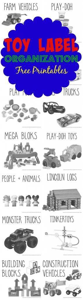 Free Printable Toy Bin Labels + Playroom Organization