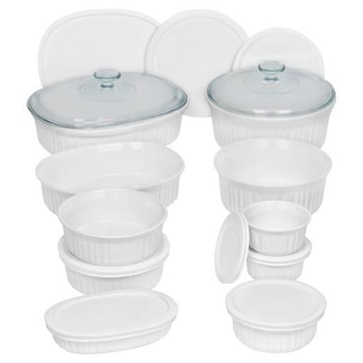 Corningware French White Round Oval Bakeware Set 20 Piece