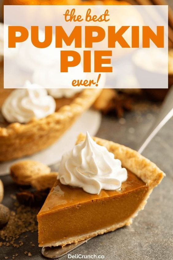 pumpkin pie recipe, the best and easy recipe perfect for the holidays!