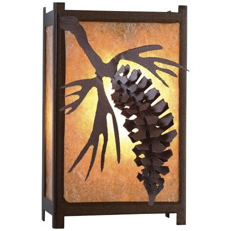 "Savern Series Pinecone 11"" High Wall Sconce 