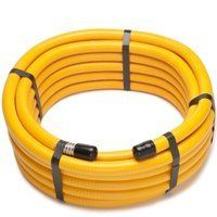 """PFCT-3475 CSST HOSE 3/4X75 by PRO-FLEX. Save 27 Off!. $177.76. Flexible 304 stainless steel with yellow polyethylene jacketing. All hoses clearly marked with gas pressure rating, EHD (Equivalent Hydraulic Diameter). Tested to the ANSI Standards for Fuel Gas Piping System using Corrugated Stainless Steel Tubing""""(CSST), ANSI LC-1a-2009, CSA 6.26a-2009, ANSI LC-1-2005 and CSA 6.26-2005."""