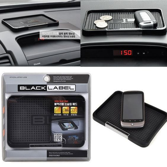 BLACKLABEL Anti Non Slip Pad Phone Holder _Car Vehicle Dashboard Car accessories #DashKIts #DashTrimKit #CustomInteriors #Rvinyl