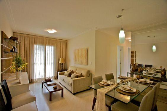 sala de estar e jantar em apartamentos pequenos decoração - Pesquisa Google