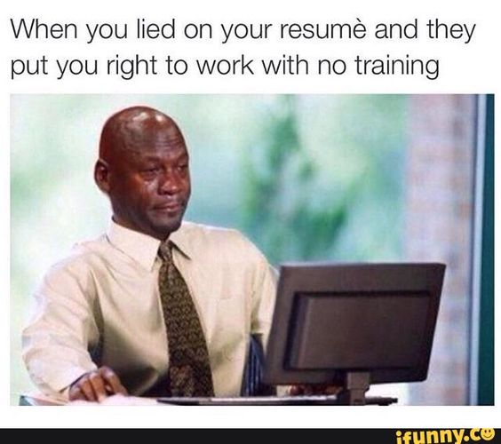 damned, by, lying, resume, work funny Pinterest Resume work - lying on resume
