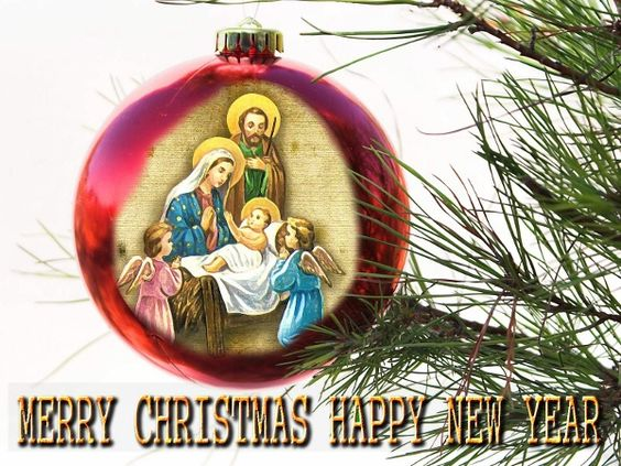 Image result for religious merry christmas and happy new year