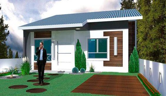 0011 plano de casa de 53 m2 y 2 dormitorios de 1 piso solo tiene un total de 53 metros - Pasar de metros a metros cuadrados ...