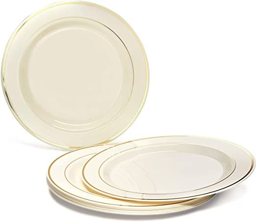 Quot Occasions Quot 240 Plates Pack Heavyweight Wedding Party Disposable Plastic Plates 10 5 Dinner Plat In 2020 Disposable Plastic Plates Plastic Plates Plates
