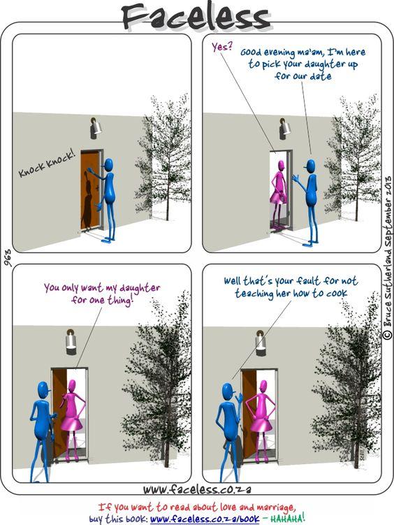 Faceless Comics: Knock knock!