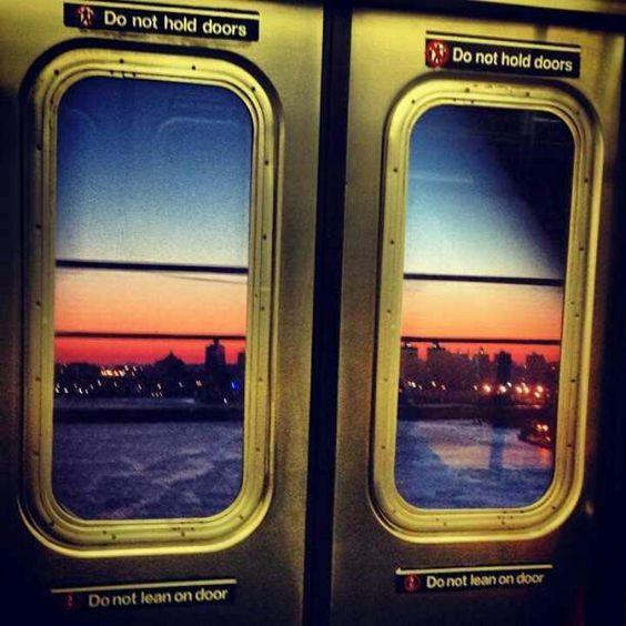 Subway sunset #brooklyn
