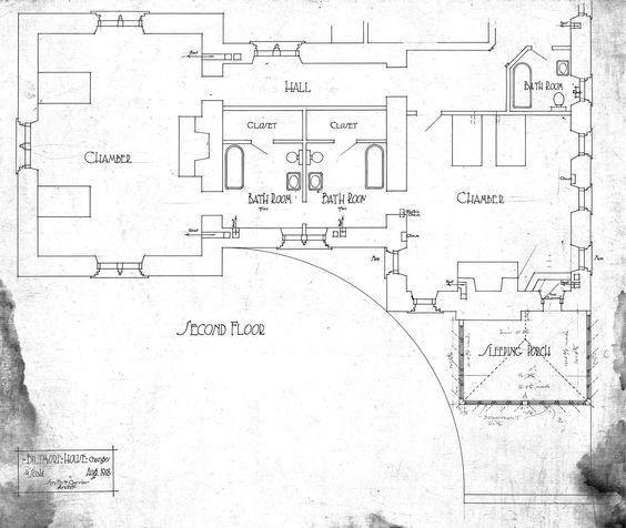Biltmore house 2nd floor bachelor 39 s wing changes for for Biltmore estate floor plan