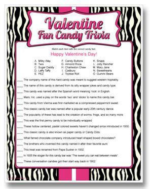 valentine pub quiz