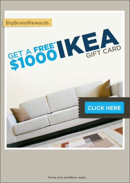 Get Your 1000$ IKEA Gift Card. Free