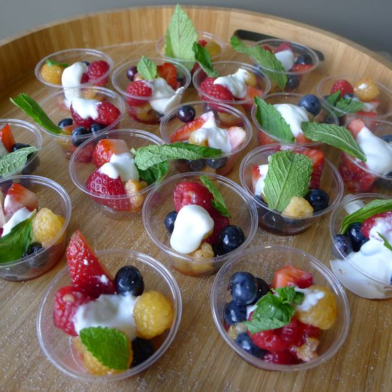fresh mixed berries with quark  by Cathy Jones