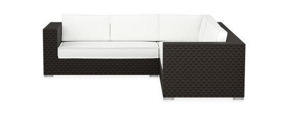 Zubix Corner Sectional Wicker Sofa Outdoor Corner Sectional Outdoor Wicker Furniture