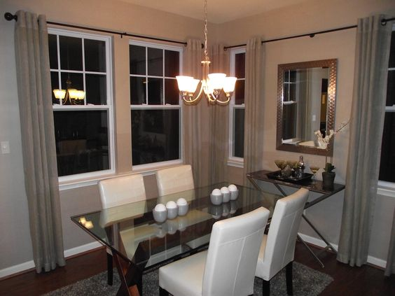 The laurent model home by napolitano homes dining area for Model home dining room