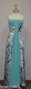 NEW Camo PROM dress-WhiteTrueTimber Camo/Pool blue size 10 **LAST ONE!!