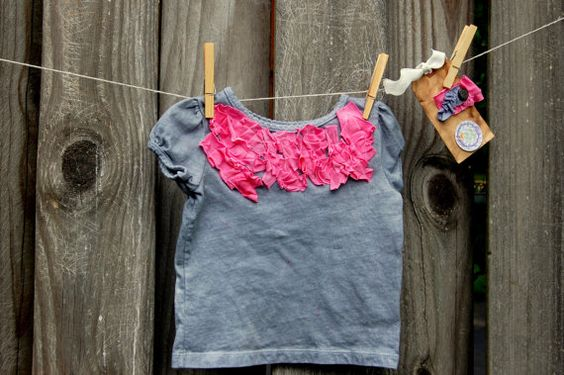 Swanky Shank 18 month Girl's Handdyed Shirt with by SwankyShank, $20.00